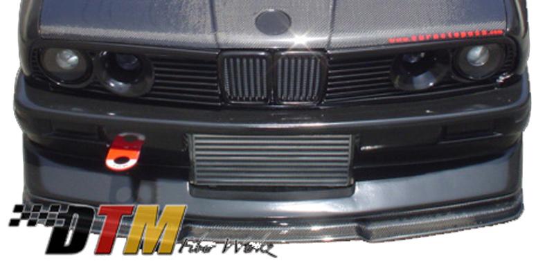 DTM Fiber Werkz BMW E30 EVO R Front Lip View 3