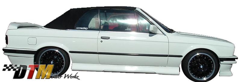 DTM Fiber Werkz BMW E30 HM Style Side Skirts View 1