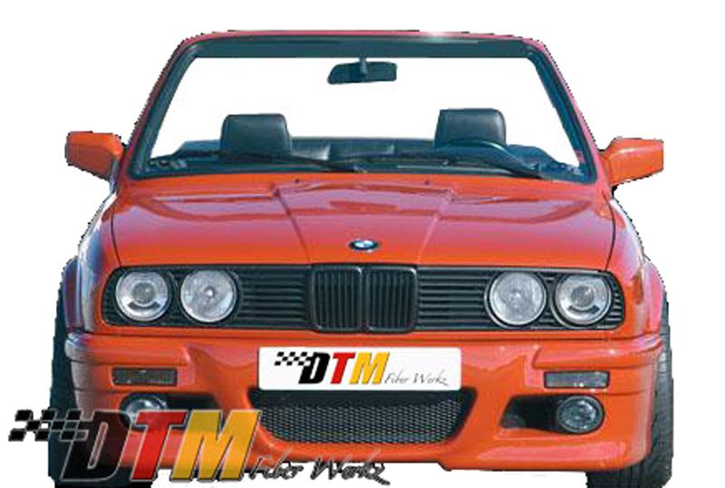 DTM Fiber Werkz BMW E30 RG E46 Style Front Bumper View 1