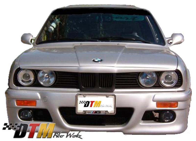 DTM Fiber Werkz BMW E30 RG E46 Style Front Bumper View 2