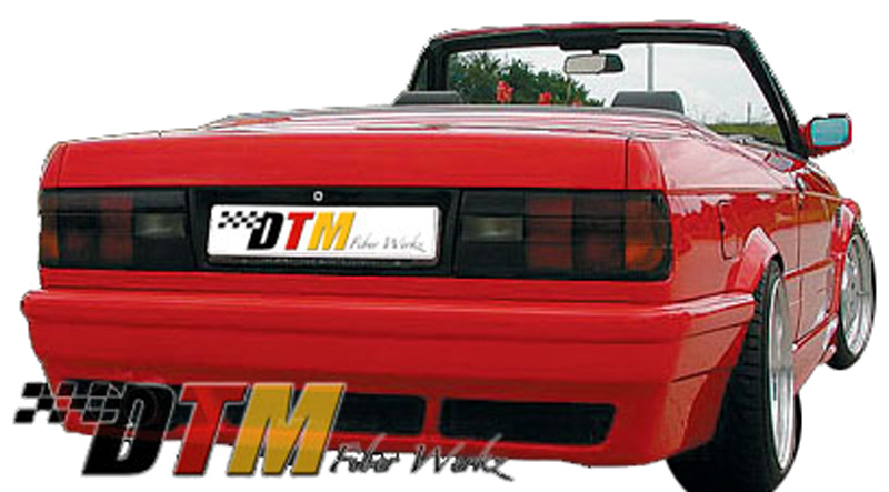 DTM Fiber Werkz BMW E30 RG E46 M3 Style Rear Bumper View 1
