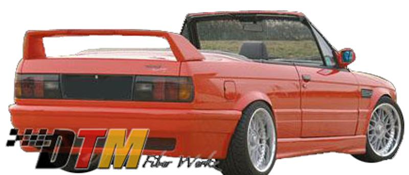 DTM Fiber Werkz BMW E30 RG E46 M3 Style Rear Bumper View 3