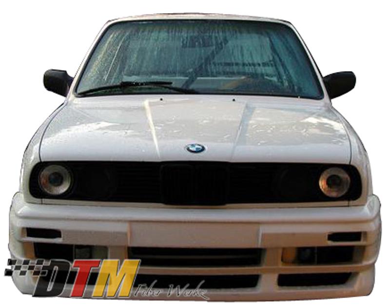 DTM Fiber Werkz BMW E30 RG GTS Style Front Bumper Mounted 1