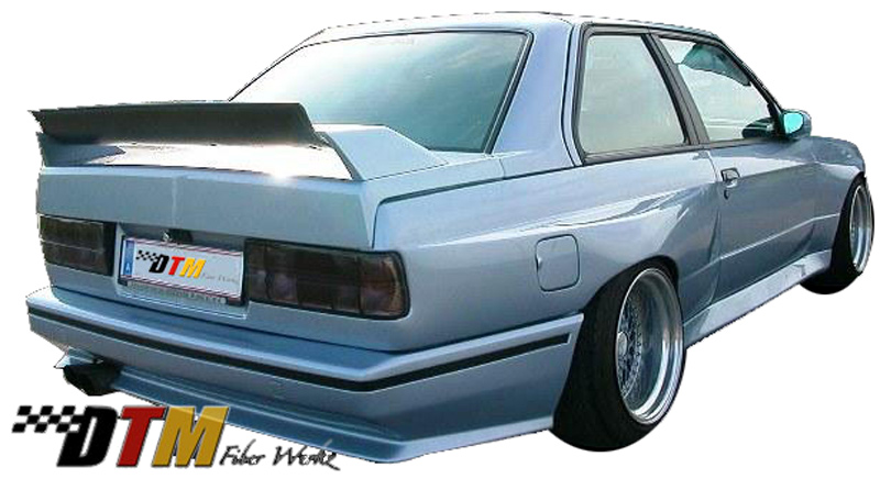 DTM Fiber Werkz BMW E30 RG GTS Style Rear Bumper Mounted 1