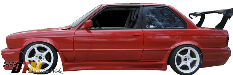 DTM Fiber Werkz BMW E30 RG GTS style Side Skirts View 1