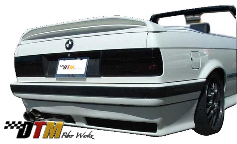 DTM Fiber Werkz BMW E30 RG Infinity Style Rear Apron for USDM E30 View 1