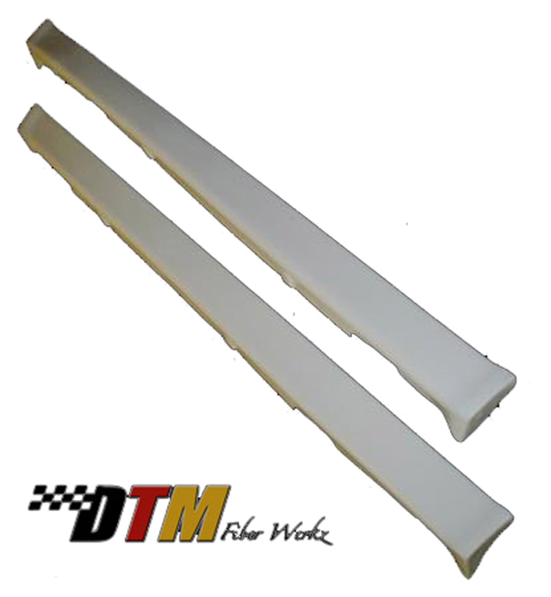 DTM Fiber Werkz BMW E30 Mtech II 1-Piece Side Skirts Unmounted