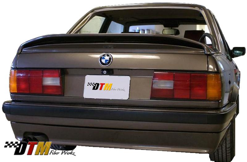DTM Fiber Werkz BMW E30 MTech II Rear Apron Mounted