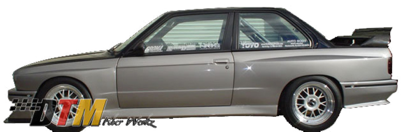 DTM Fiber Werkz BMW E30 M3 EVO Style Side Skirts