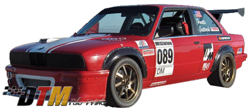 DTM Fiber Werkz BMW E30 2002tii Style Bolt On Fender Flares View 1