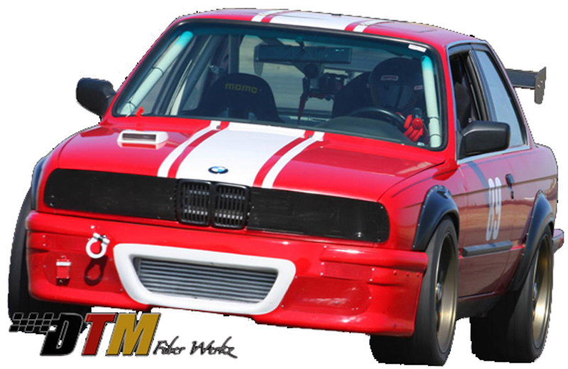 DTM Fiber Werkz BMW E30 2002tii Style Bolt On Fender Flares View 5