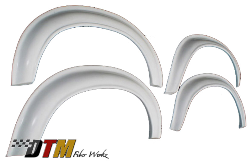 DTM Fiber Werkz BMW E30 2002tii Style Bolt On Fender Flares Unmounted