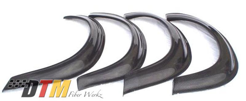 DTM Fiber Werkz BMW E30 2002tii Style Bolt On Fender Flares Carbon Fiber 2