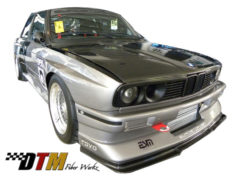 DTM Fiber Werkz BMW E30 EVO R Style Widebody Front Fenders View 1