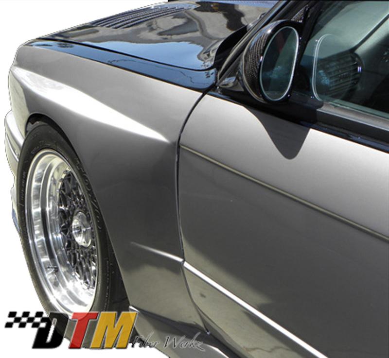 DTM Fiber Werkz BMW E30 EVO R Style Widebody Front Fenders View 4