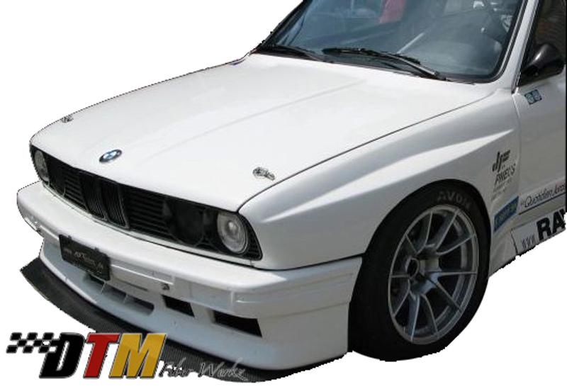 DTM Fiber Werkz BMW E30 EVO R Style Widebody Front Fenders View 5
