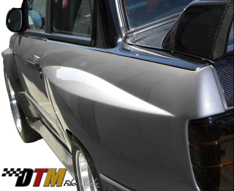 DTM Fiber Werkz BMW E30 EVO R Style Widebody Rear Fenders View 1