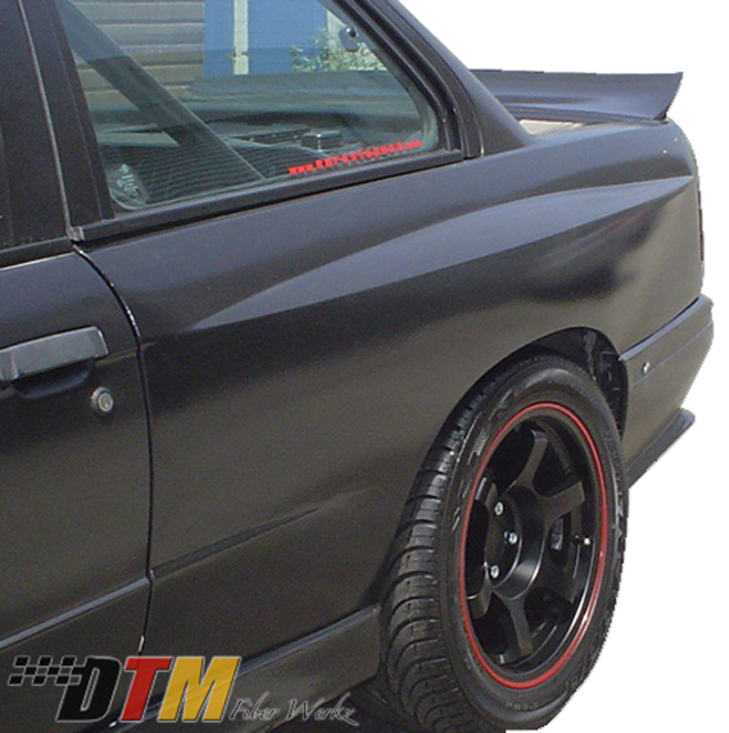 DTM Fiber Werkz BMW E30 EVO R Style Widebody Rear Fenders View 2