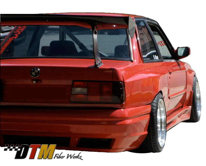 DTM Fiber Werkz BMW E30 EVO R Style Widebody Rear Fenders View 3