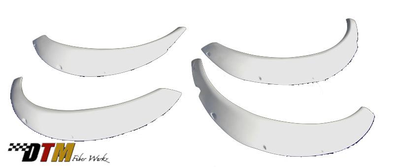 DTM Fiber Werkz BMW E30 Rivet On Fender Flares Unmounted Overall