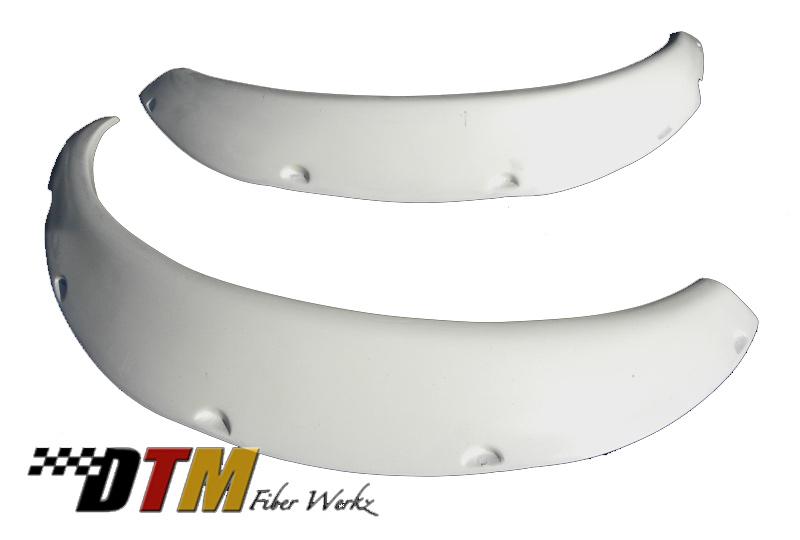 DTM Fiber Werkz BMW E30 Rivet On Fender Flares Unmounted 2