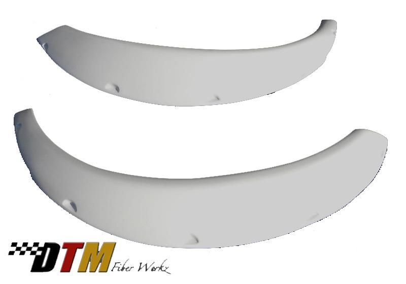 DTM Fiber Werkz BMW E30 Rivet On Fender Flares Unmounted 3