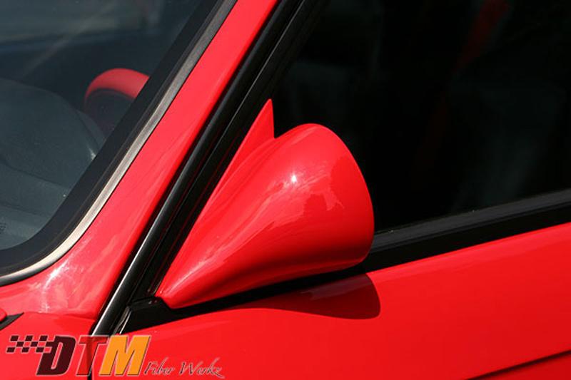 DTM Fiber Werkz BMW E30 DTM Style Non-Vented Carbon Fiber Mirrors 3