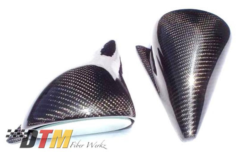DTM Fiber Werkz BMW E30 DTM Style Non-Vented Carbon Fiber Mirrors 2