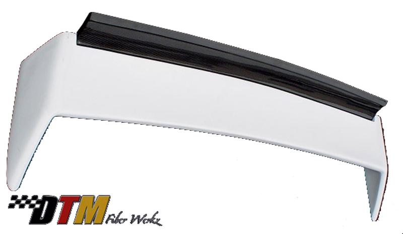 DTM Fiber Werkz BMW E30 M3 EVO DTM Spoiler FRP Base CFRP Super Long Gurney Flap