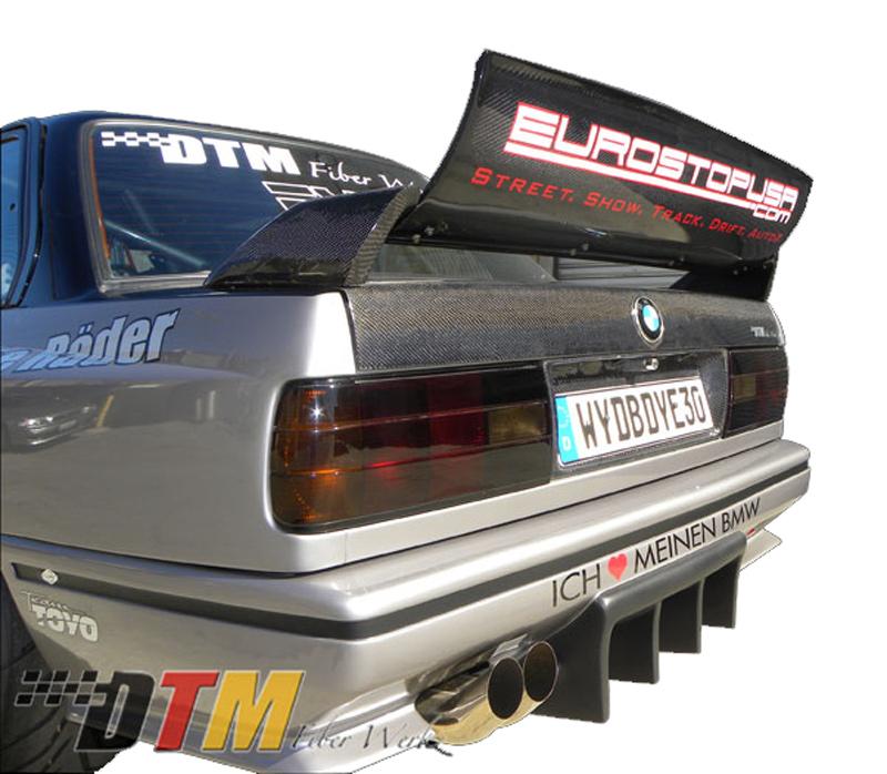 DTM Fiber Werkz BMW E30 EVO DTM Spoiler CFRP Base CFRP Super Long Gurney Flap 1