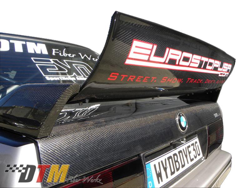 DTM Fiber Werkz BMW E30 EVO DTM Spoiler CFRP Base CFRP Super Long Gurney Flap 3