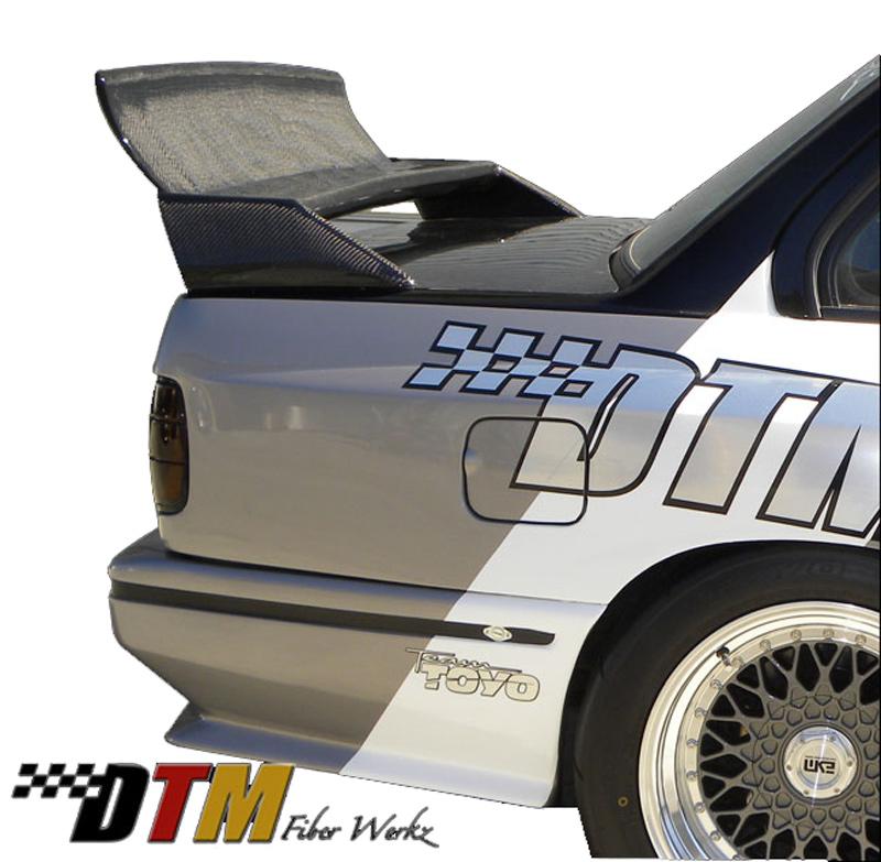 DTM Fiber Werkz BMW E30 EVO DTM Spoiler CFRP Base CFRP Super Long Gurney Flap 2