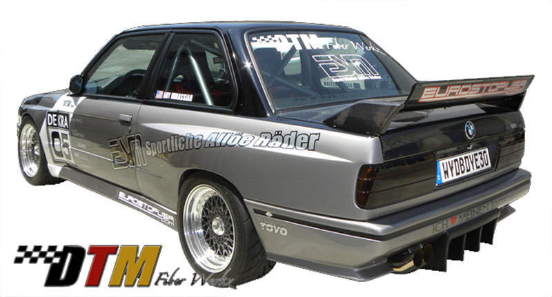 DTM Fiber Werkz BMW E30 EVO DTM Spoiler CFRP Base CFRP Super Long Gurney Flap 4