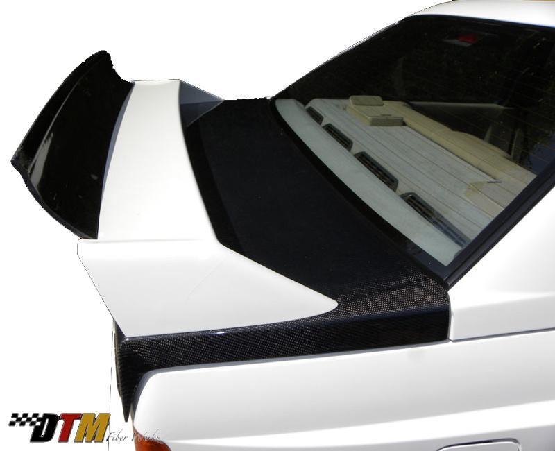 DTM Fiber Werkz BMW E30 EVO DTM Spoiler FRP Base CFRP Super Long Gurney Flap 2