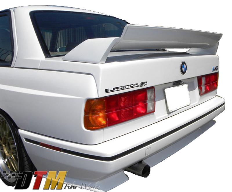 DTM Fiber Werkz BMW E30 M3 EVO DTM Spoiler FRP Base FRP Super Long Gurney Flap