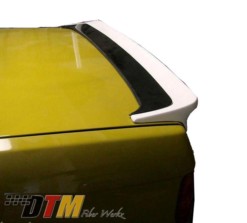 DTM Fiber Werkz E30 Mtech I style Spoiler Mounted 2