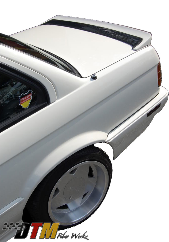 DTM Fiber Werkz E30 Mtech I style Spoiler Mounted 1