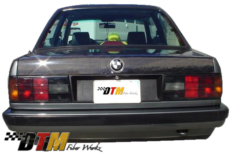 DTM Fiber Werkz BMW E30 Carbon Fiber Trunk View 1
