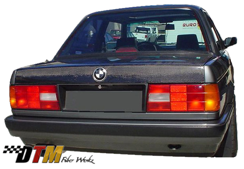 DTM Fiber Werkz BMW E30 Carbon Fiber Trunk View 2