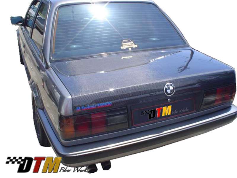 DTM Fiber Werkz BMW E30 Carbon Fiber Trunk View 5