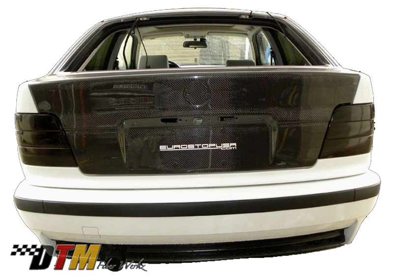DTM Fiber Werkz BMW 318ti Carbon Fiber Trunk/Hatch Mounted 2