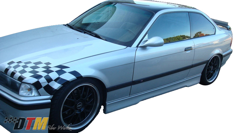 DTM Fiber Werkz BMW E36 HM Style Side Skirts FRP View 1