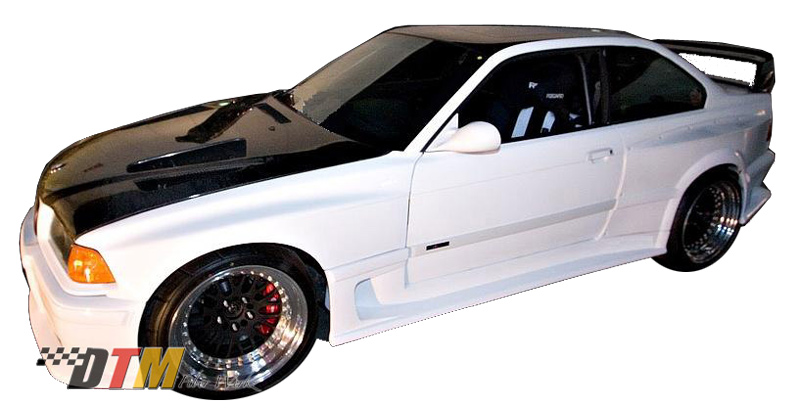 DTM Fiber Werkz BMW E36 DTM DRIFTZ Widebody Kit Mounted 2