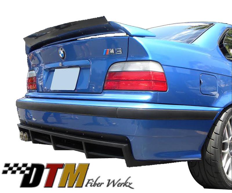 DTM Fiber Werkz BMW E36 M3 DTM Style Rear Diffuser [FRP] View 1