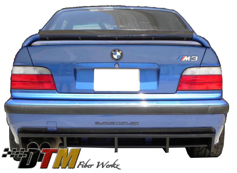 DTM Fiber Werkz BMW E36 M3 DTM Style Rear Diffuser [FRP] View 4