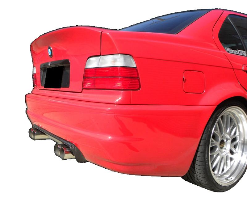 DTM Fiber Werkz BMW E36 to E46 CSL Rear Bumper W Diffuser View 3