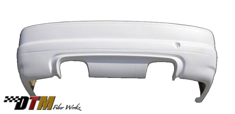 DTM Fiber Werkz BMW E36 to E46 CSL Rear Bumper W Diffuser View 2