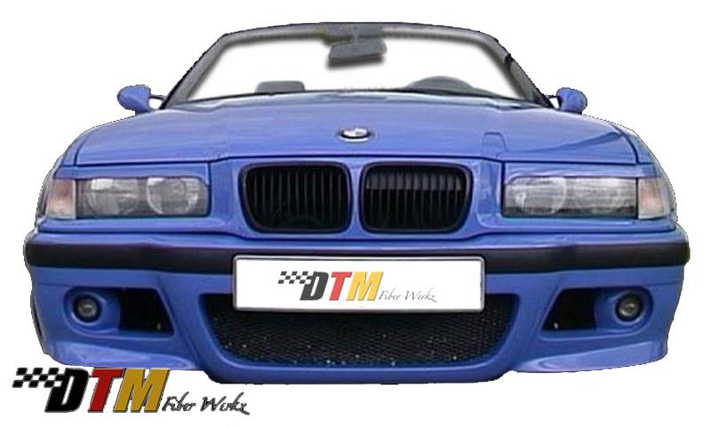 DTM Fiber Werkz BMW E36 E46 Style Front Bumper Mounted