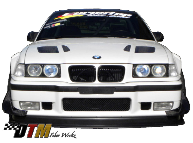 DTM Fiber Werkz BMW E36 GTR-S Style Vented Widebody Front Fenders View 4