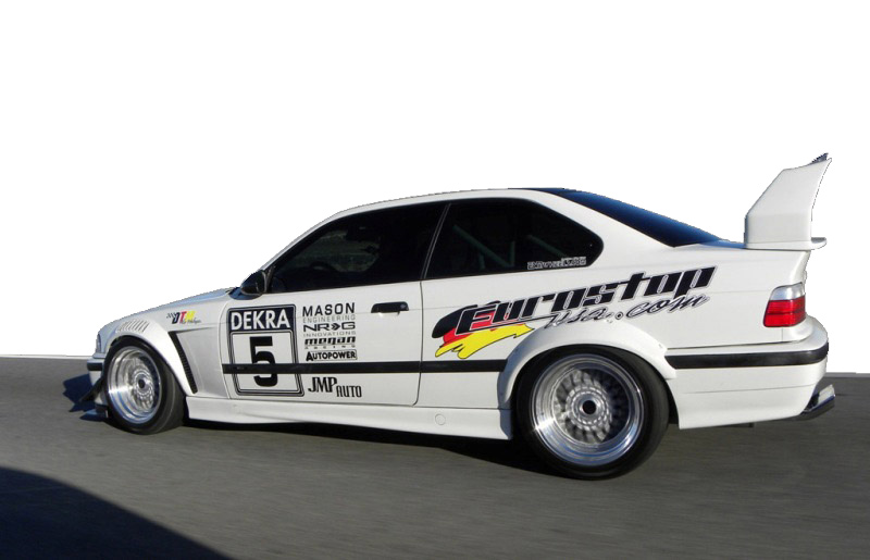 DTM Fiber Werkz BMW E36 GTR-S Style Vented Widebody Front Fenders View 5